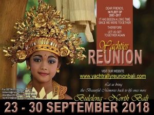200 yachts heading to the North of Bali to join the Yacht Reunion  23 - 30 September