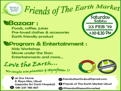 Friends of the Earth Market, Jl  Raya Mass, Ubud , February  23 th 2019.