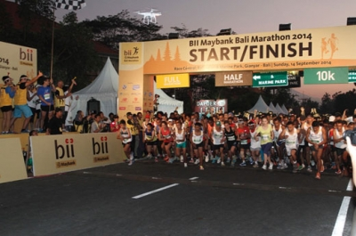 More then 10.000 participants including top athletics running the Bali Marathon On September 9 th kick of time 6 AM