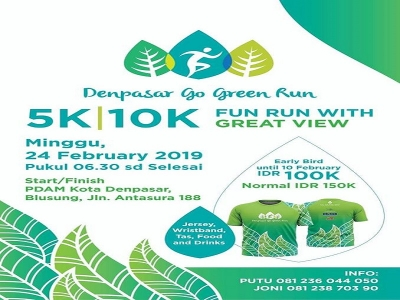 Denpasar Go Green Run Sunday Februari 24 2019