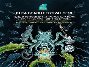 Bali Food, Music, Clothing, Kite, Surfing and Sunset Run at the Kuta Beach Festival  Oct 19 - 20 - 21 2018