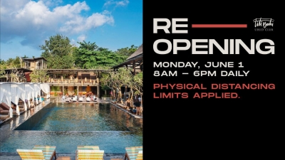 Titi Batu Ubud Club re opening June 1 st 2020