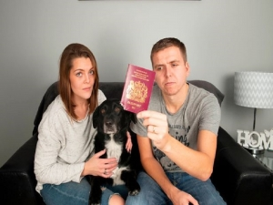 UK honeymoon couple travelling to Bali have been refused entrance by Denpasar Airport immigration staff because there dog chewed corner of passport