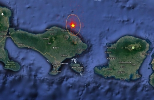 4.4 magnitude earthquake hits Bali in Indian Ocean at 47 Km distance from  Klungkung area