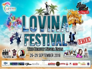 Exhibition, Balinese cuisine , live music and Colour Run at the Lovina Festival, 26 / 28 September